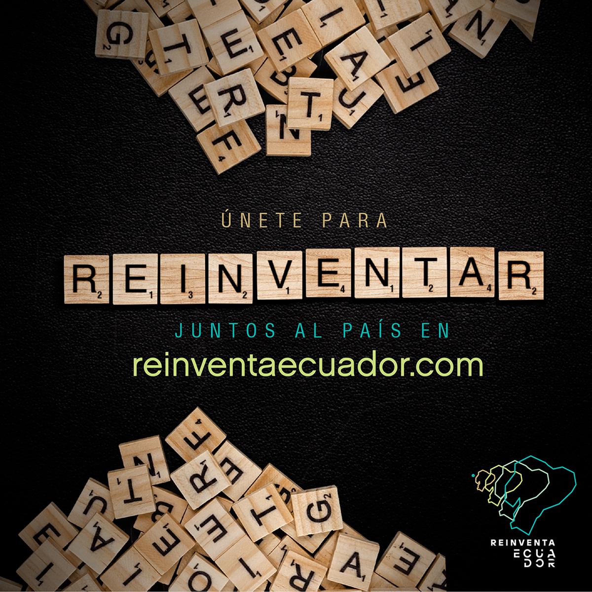 Imagen de Reiventa Ecuador, campaña de AEI y ONU Ecuador