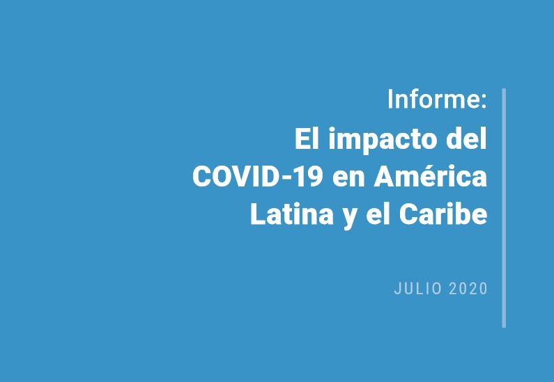 Portada Informe: Impacto de COVID-19 en América Latina y el Caribe