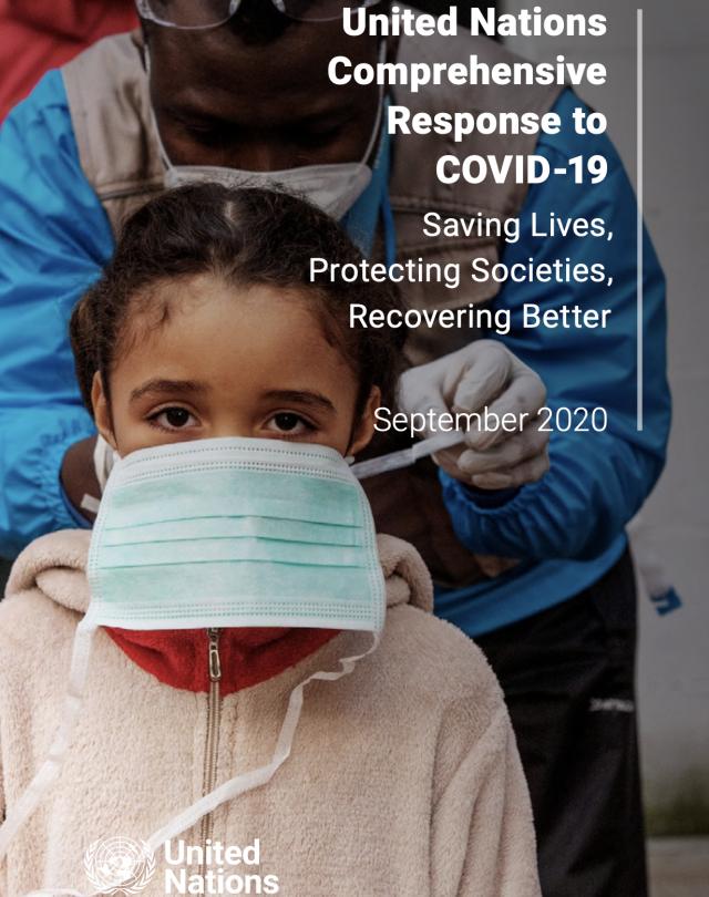 UN Comprehensive Response to COVID19 cover in english
