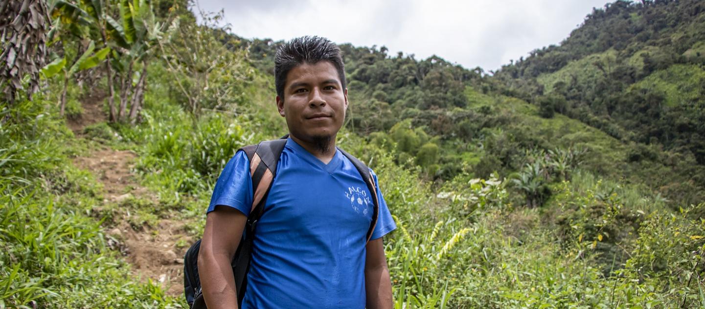 Imagen de Ramiro Rodríguez - Profesor Awá, en la selva