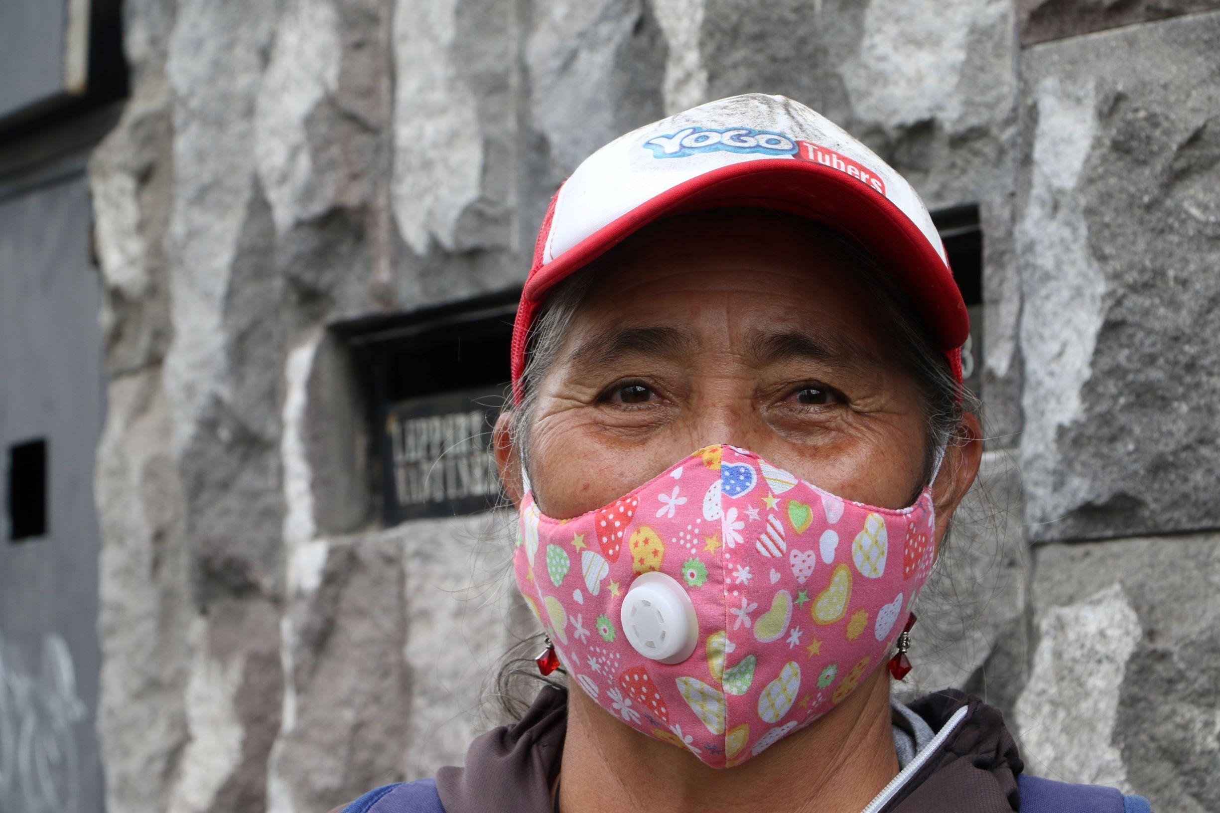 Rostro de Blanca Lara, recicladora de Quito, Ecuador