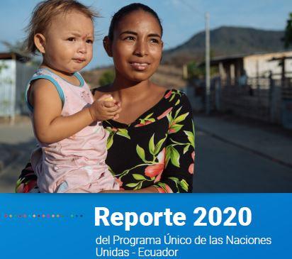 Portada del Reporte 2020 de la ONU en Ecuador