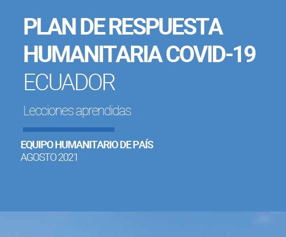 Detalle de la portada del documento de lecciones aprendidas del Equipo Humanitario País 2021