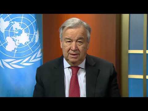 El Secretario General hace un llamado a la paz en los hogares del mundo a propósito del #COVID19